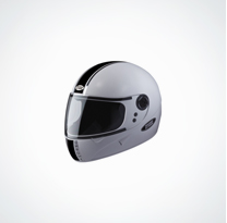 Studds Helmet-Chrome White-Full Face(Size : 58 Cms)