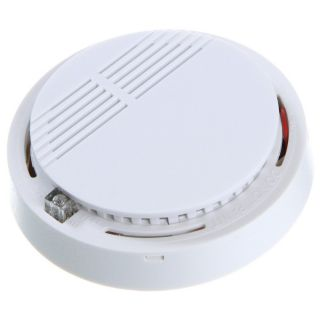 security cordless wireless fire smoke detector sensor alarm white. Black Bedroom Furniture Sets. Home Design Ideas