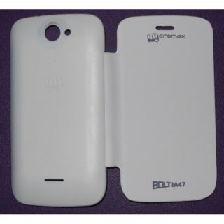 Micromax Bolt A47 Flip Cover White available at ShopClues for Rs.149