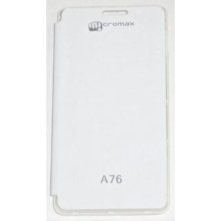 Micromax A76 Flip Cover White available at ShopClues for Rs.149