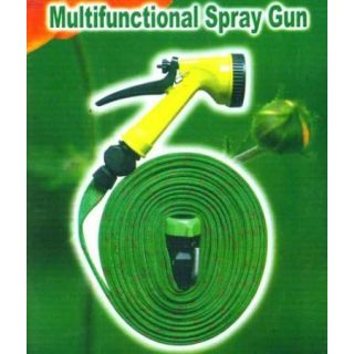 Multipurpose Use Wash Pipe Flat Hose Water Gun Spray 7.5Mtr  available at ShopClues for Rs.153