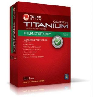 Trend Micro Titanium Internet Security - 1 PC 1 Year