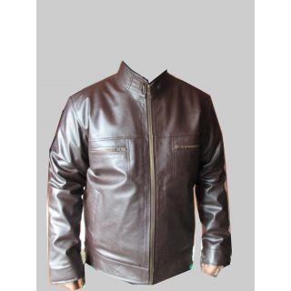 Buy Summer Party Wear Leather Jacket(Brown) Online in India