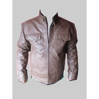 Buy Summer Party Wear Leather Jacket(Light Gold) Online in India