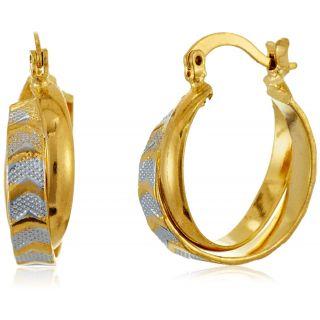 GB Jewellery 18 Kt Gold Plated Hoop Earrings For Women (JE10GFE036)