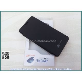 Micromax Bolt A67 Flip Diary Case Cover - BLACK
