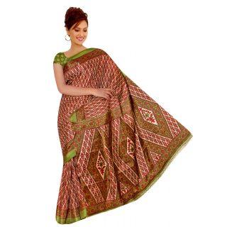 Brown khadi silk saree(CRH-SS182337)
