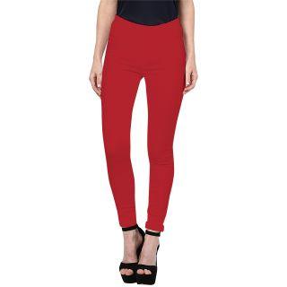 Triveni Saree Triveni Fashionable Red Colored Cotton Spandex Comfortable Leggings