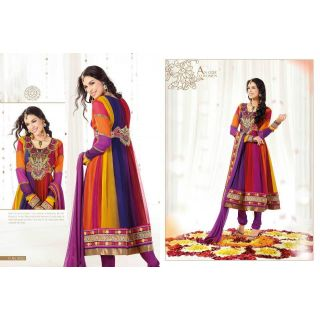 Designer Anarkali Semi Stitched Dress