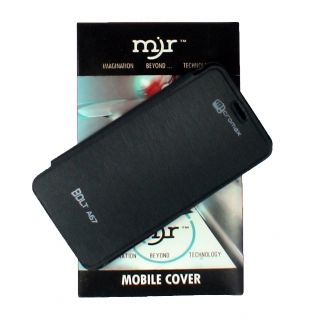 Mjr Flip Cover For Micromax Bolt A67 Black + Hd Earphone available at ShopClues for Rs.185