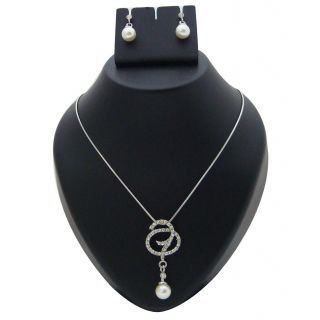 Urthn Pearl Drop Stylist Chain Pendant Set     1200632 available at ShopClues for Rs.150