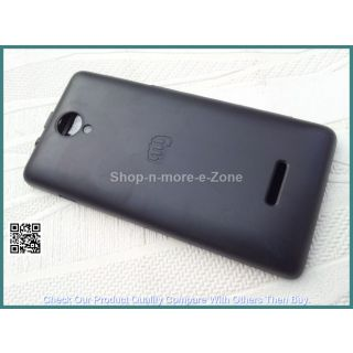 Micromax Canvas Fun A74 Flip Diary Case Cover - BLACK + Screen Guard