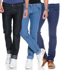 Jovial Mart Store JOVIAL MART DENIM JEANS 1 BLACK,1 LIGHT BLUE,1 DARK BLUE