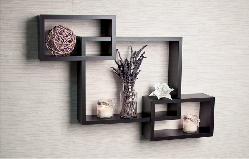 Decorative Wall Shelves For The Kitchen : Buy shelves india decorative intersecting