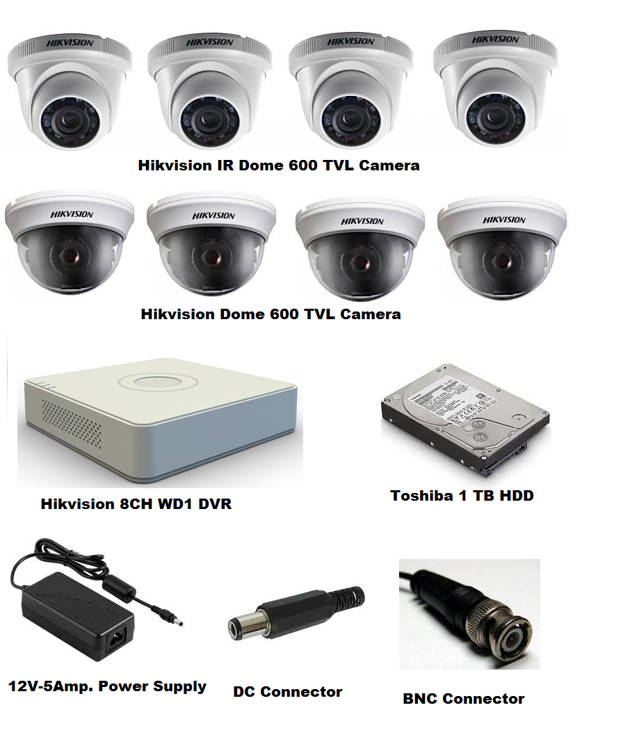 Hikvision Cctv Cameras Hikvision Cctv Set of 8 Camera