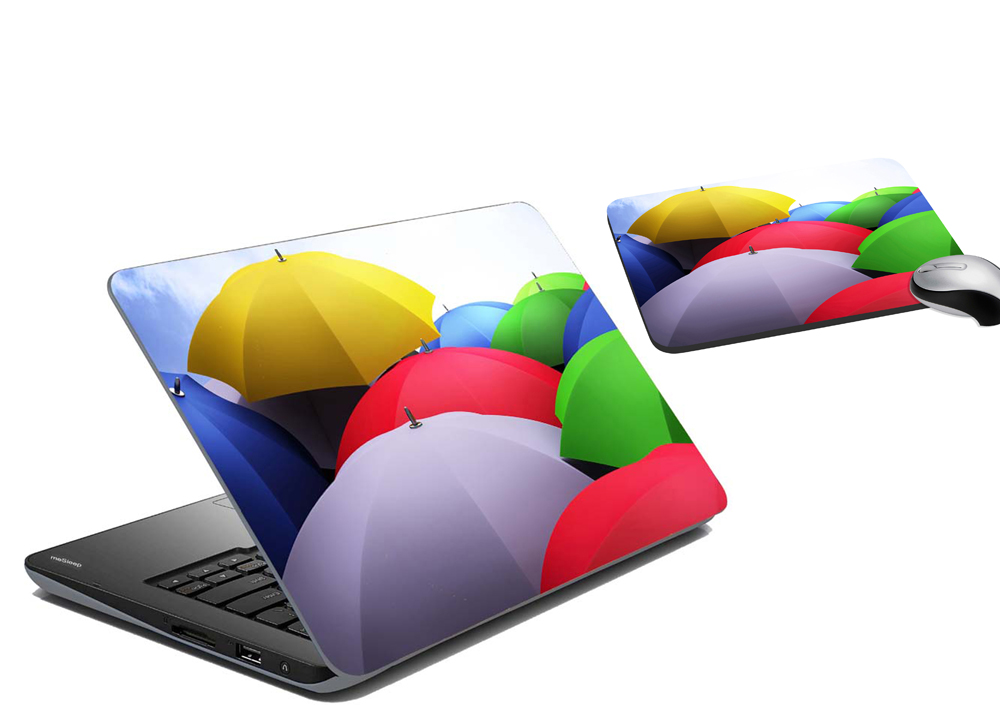 Buy Mesleep Umbrella Laptop Skin And Mouse Pad Online In