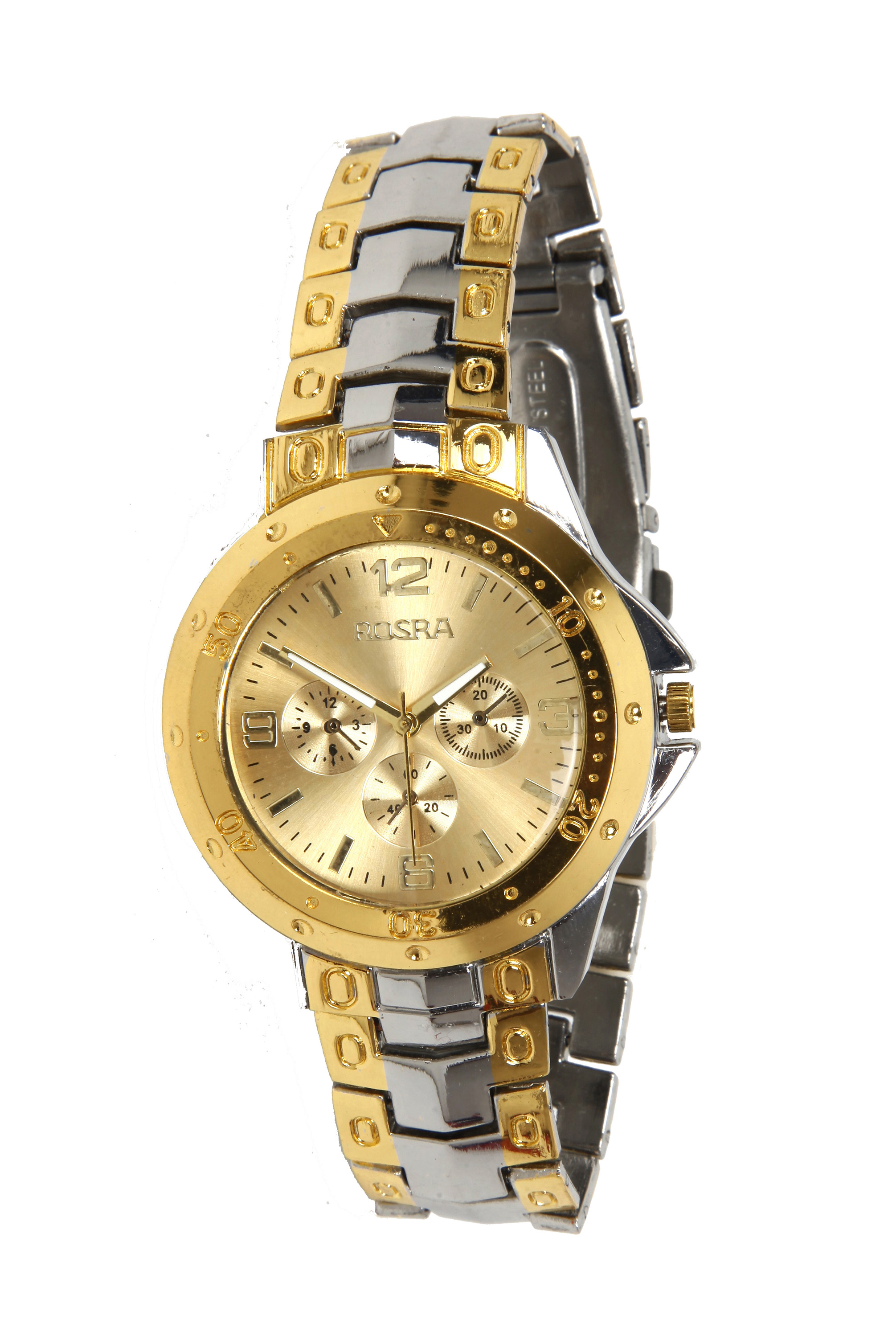 Rosra steel golden wrist watch for men 006 online at best price from for Rosra watches