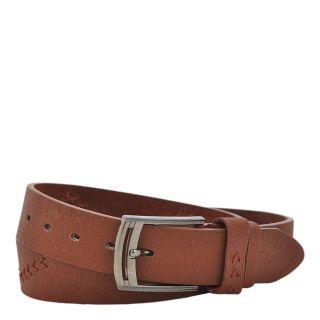kh classic designer leather belt in brown color c041114bl0074