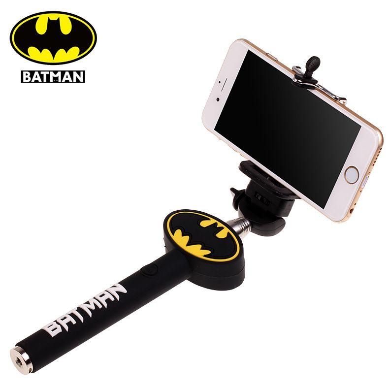 batman logo selfie stick monopod aux for iphone 5s 6 6plus. Black Bedroom Furniture Sets. Home Design Ideas