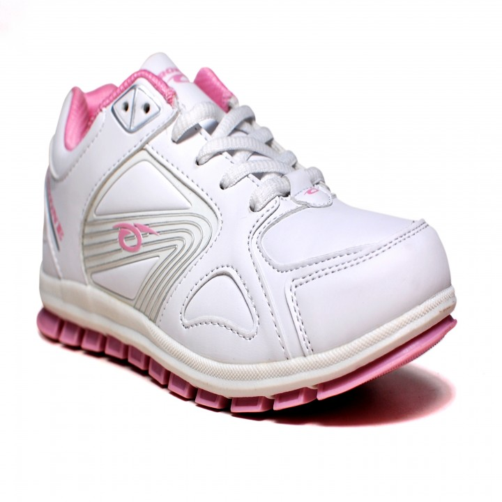 Prozone White Synthetic Leather Women Sport Shoes