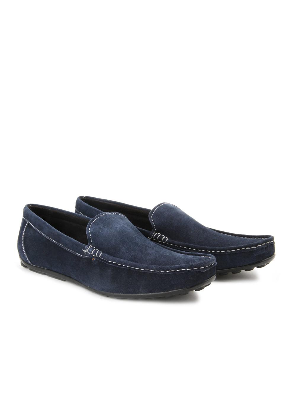 Andrew Scott Trendy Mens Blue Loafers