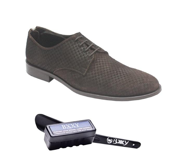 bxxy genuine suede leather brown designer formal shoes