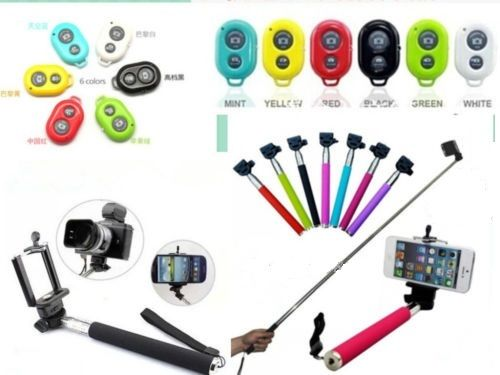 buy selfie stick with bluetooth remote for android and iphone selfie monopod. Black Bedroom Furniture Sets. Home Design Ideas