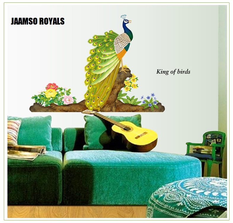 Jaamso Mj9012 3d Peacock Wall Art Stickers For Home Decor