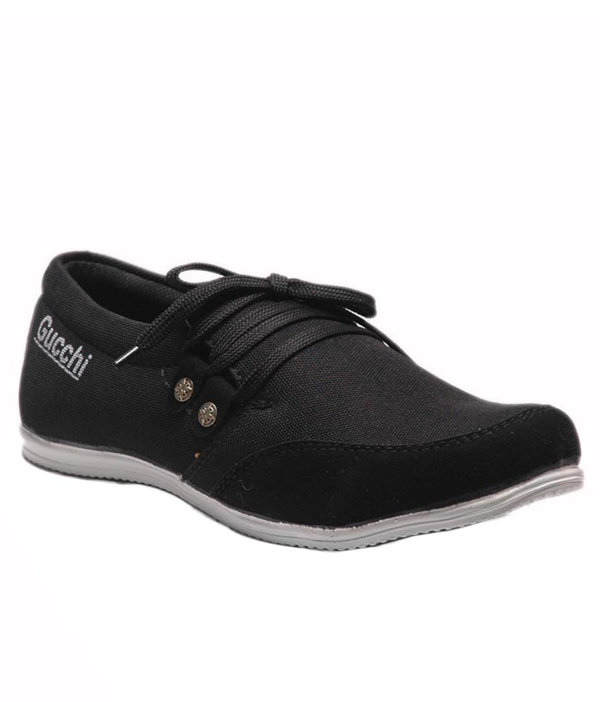 at classic black casual shoe