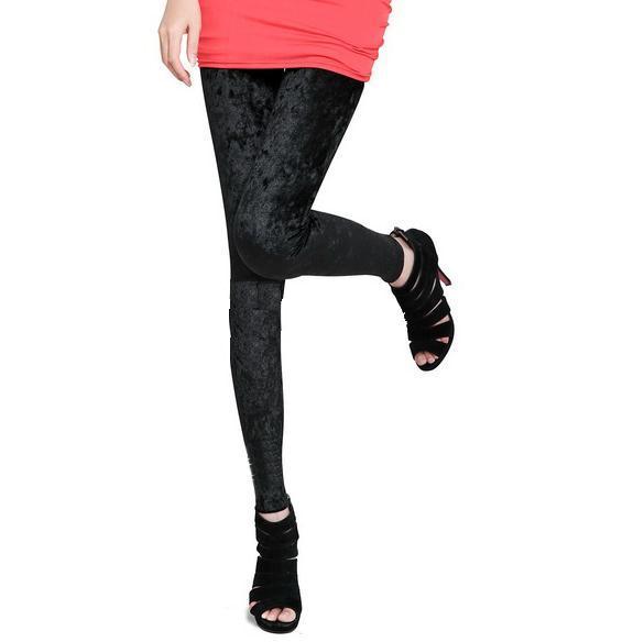 Black Velvet leggings Pants Tights Women Ladies indian top kurti salwar kameez legging