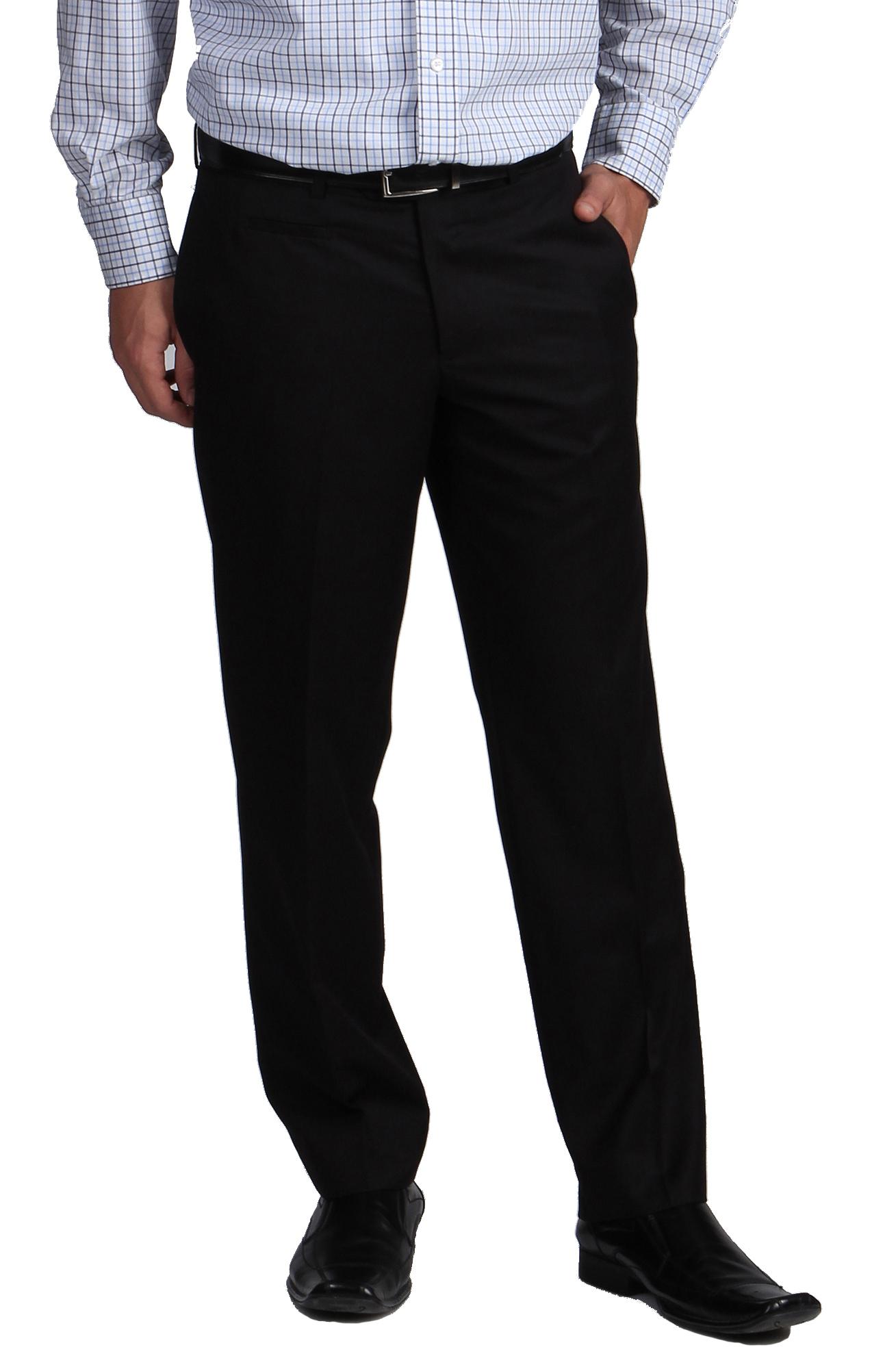 Black Formal Pants With Self Designs