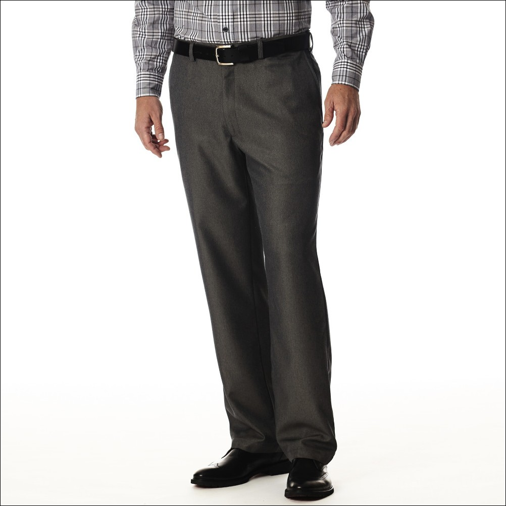 Buy Carbon Black Formal Pants With Self Designs Online In India - 80505554 - ShopClues.com