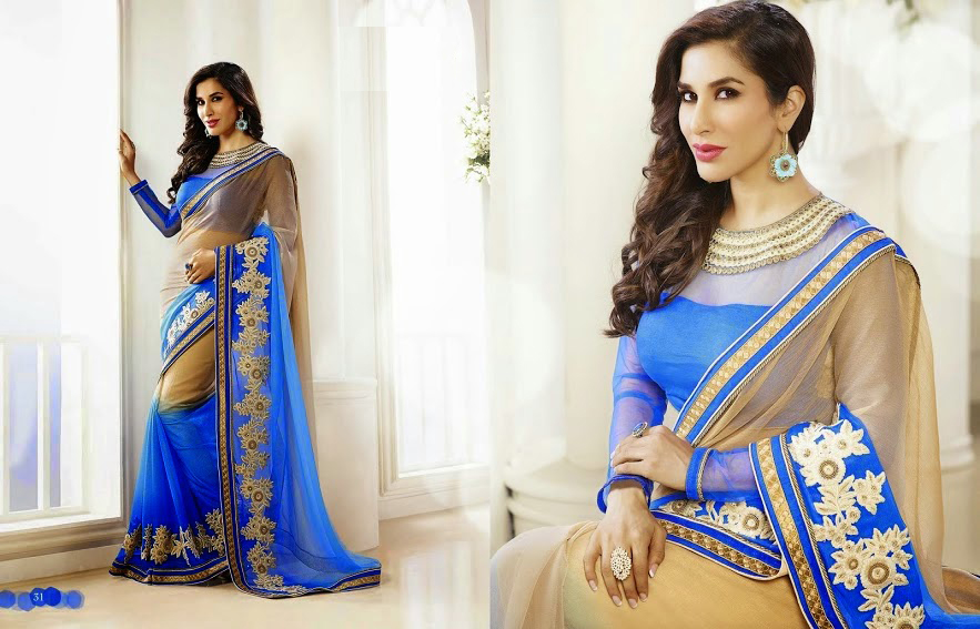 Fashion Women 39 S Apparel Ethnic Wear Sarees Fashion Founder Style Designer Sky Blue