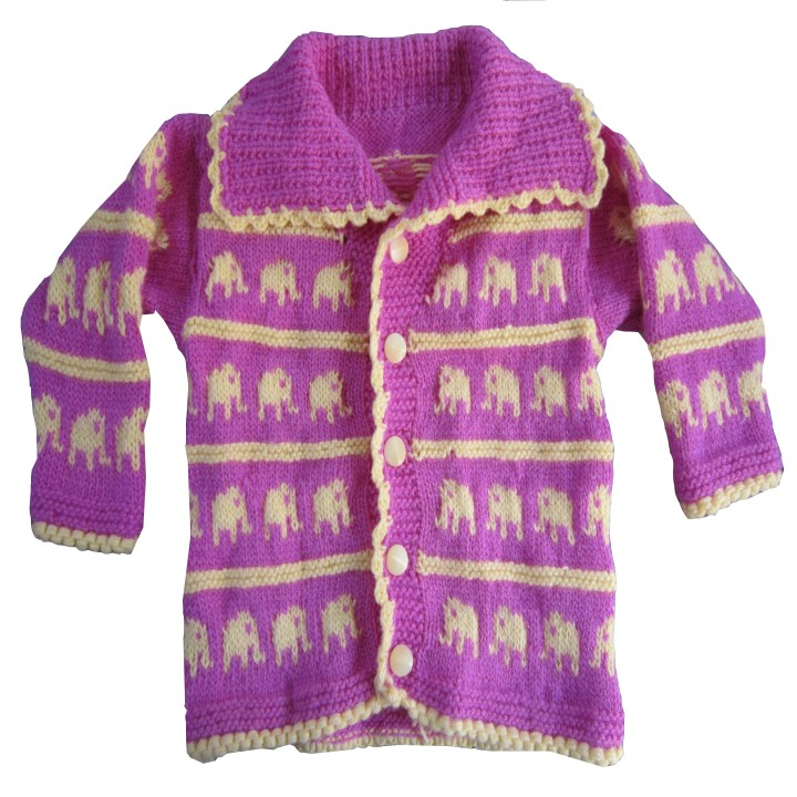 Buy Knitting House Hand Knitted Elephant Design Sweater. Online in India - 80...