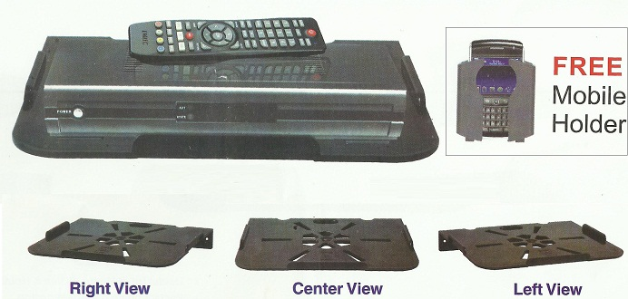 High Quality Wall Mountable Set-Top Box Shelf - 1 Mobile Holder Free