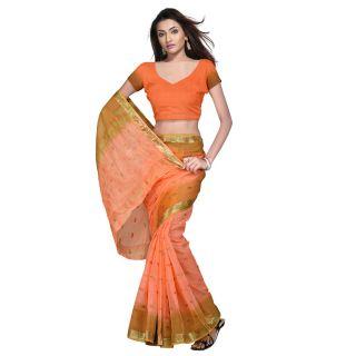 Little India Designer Kota Doria Pure Cotton Saree Blouse -104