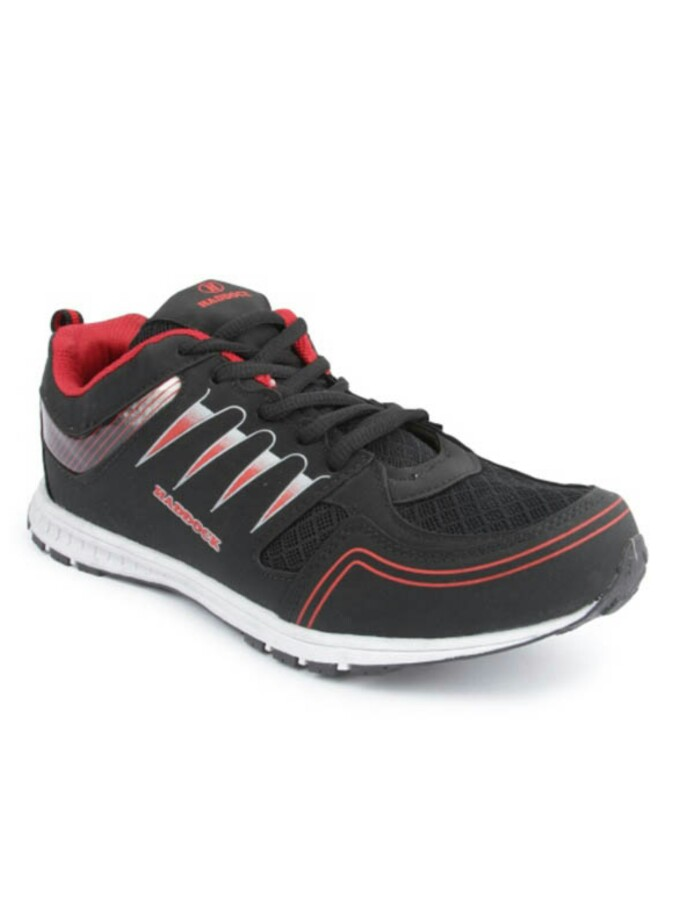 branded haddock black sports running shoes for
