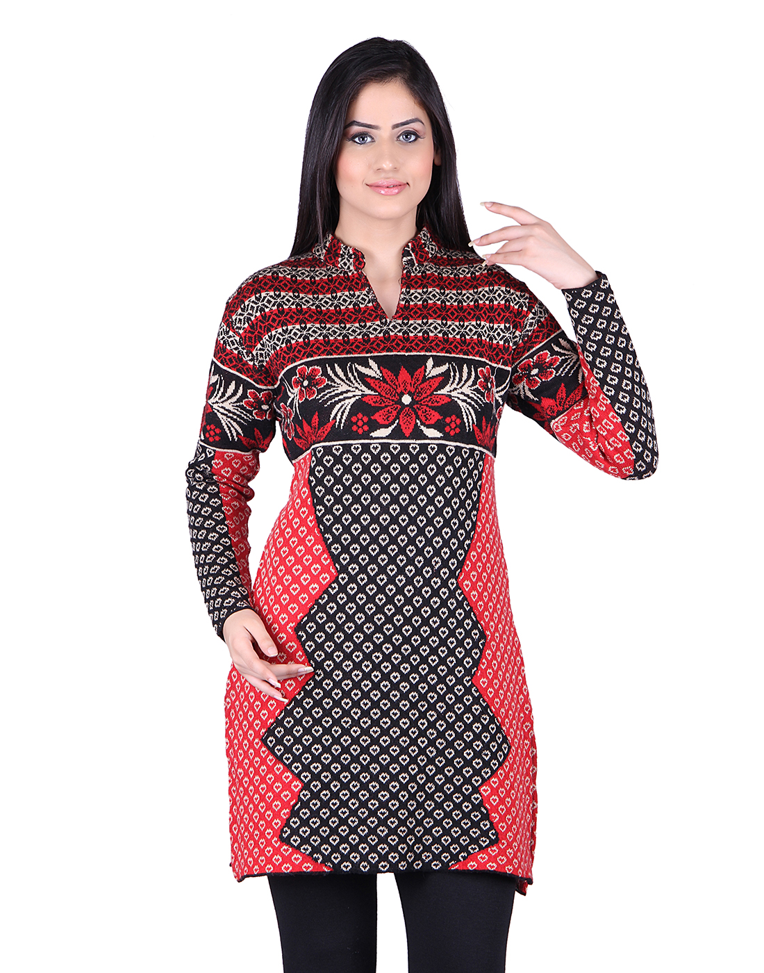 Buy ewools checkered women designer shrug online in india for Designer bolero