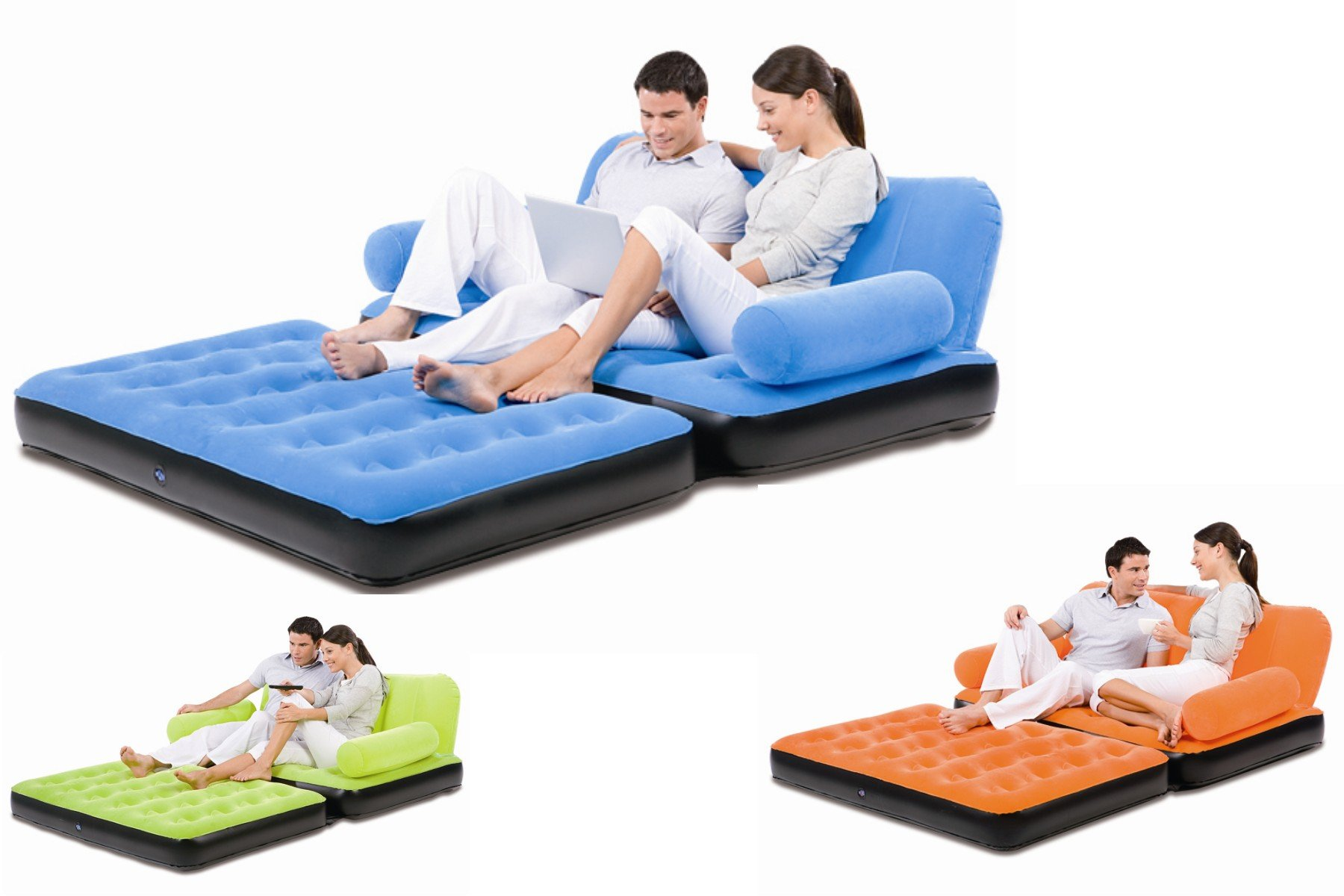 sofa cum bed air ~ bestway 5 in 1 inflatable velvet sofa air bed couch sofa