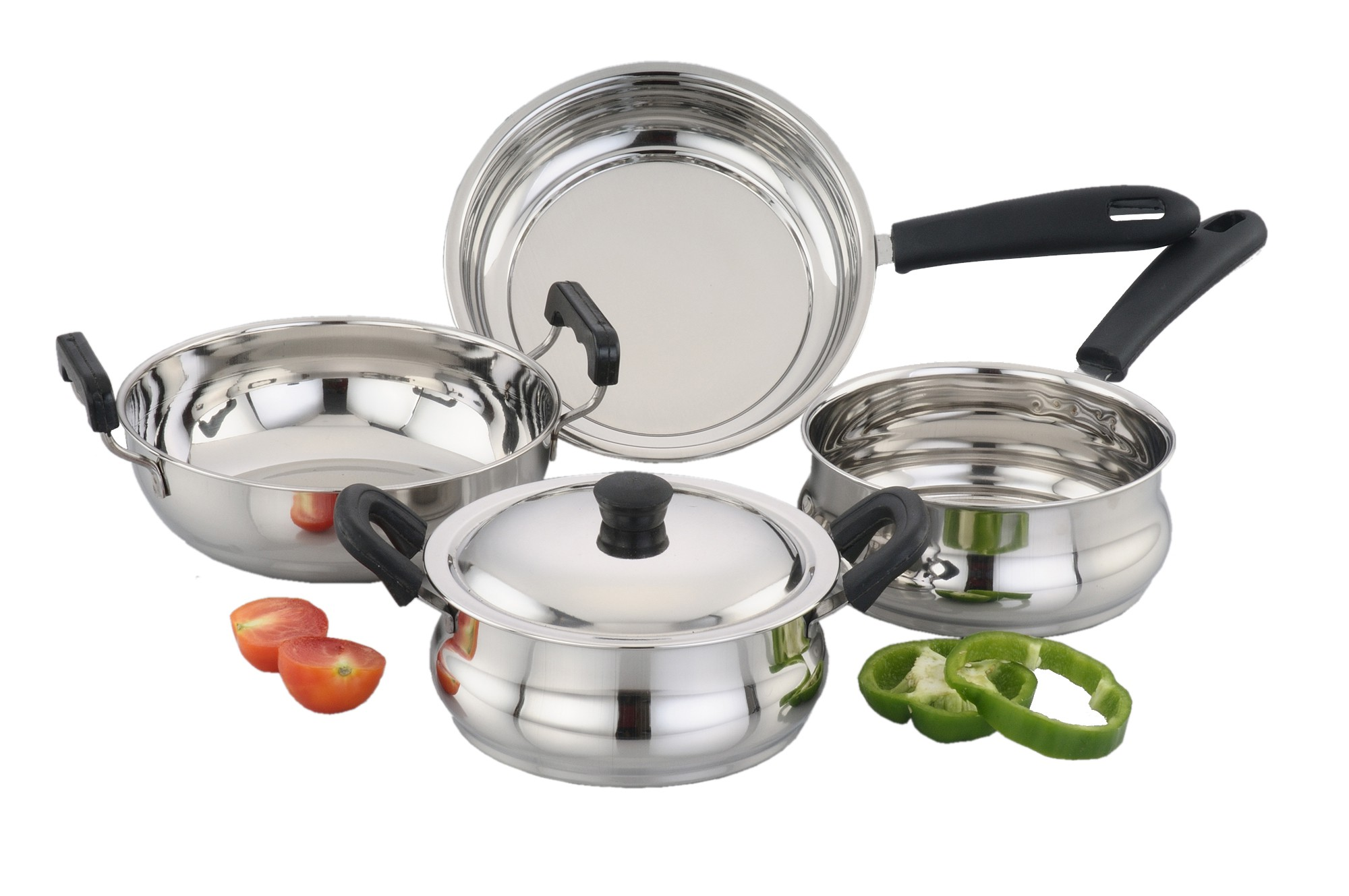 home kitchen kitchen cookware kadhai woks ForKitchen Set Vessels