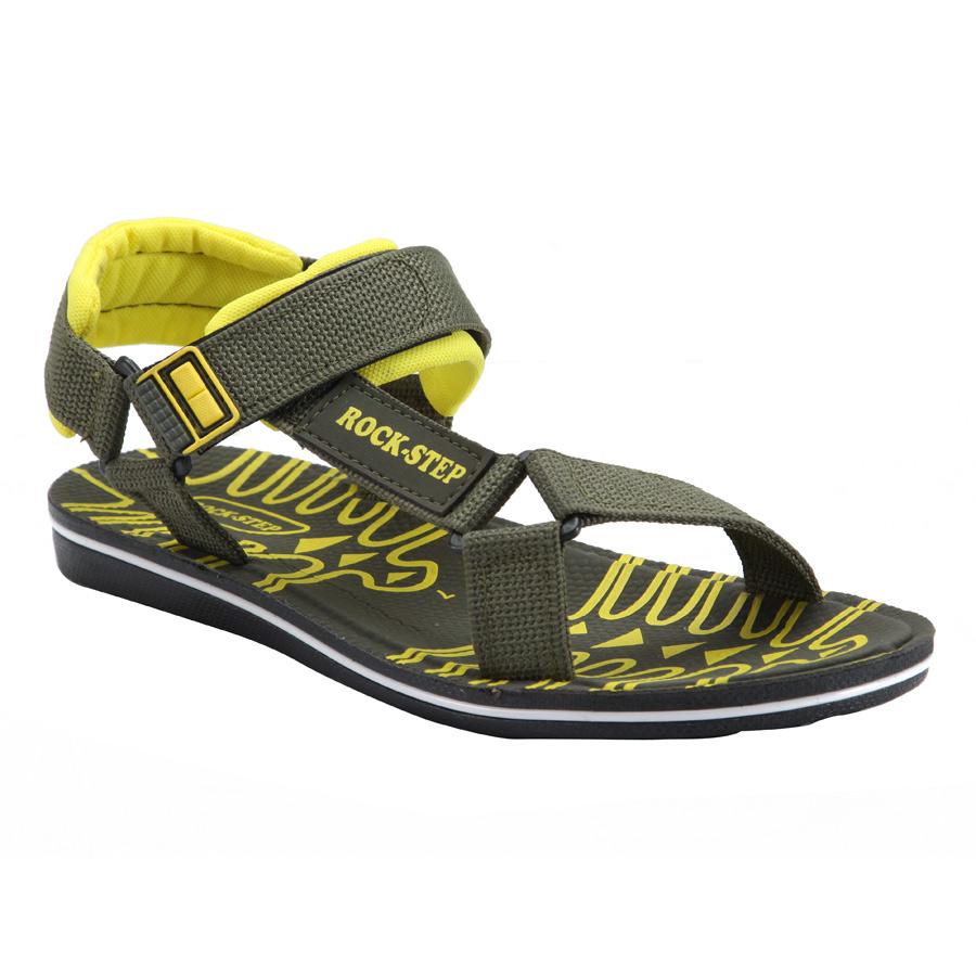 Rockstep Es104 Mehndi Yellow Sandals For Men Buy Sandals