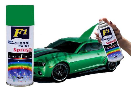 F1 aerosol spray paint green 450ml car bike multi for Car paint shop prices