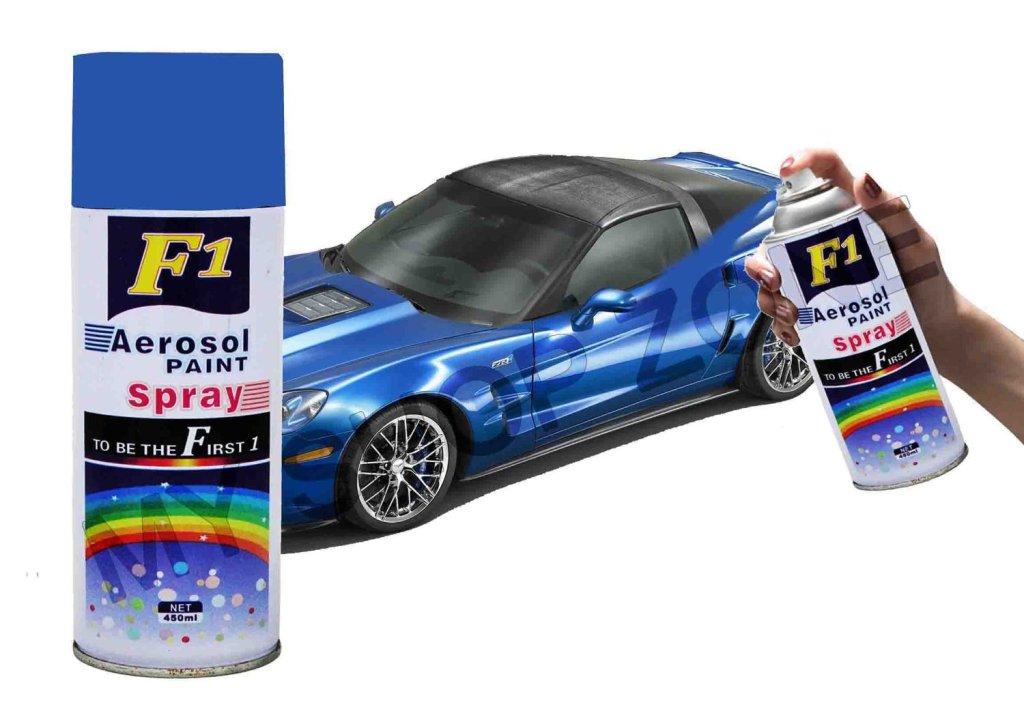 F1 aerosol spray paint blue 450ml car bike multi purpose for Car paint shop prices
