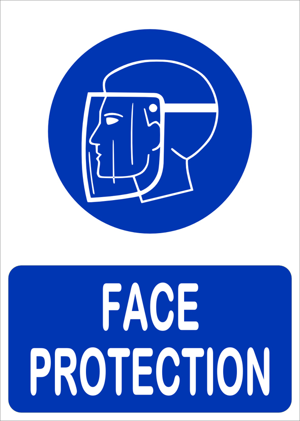 Buy Face Protection Sign Board Online In India 81902839