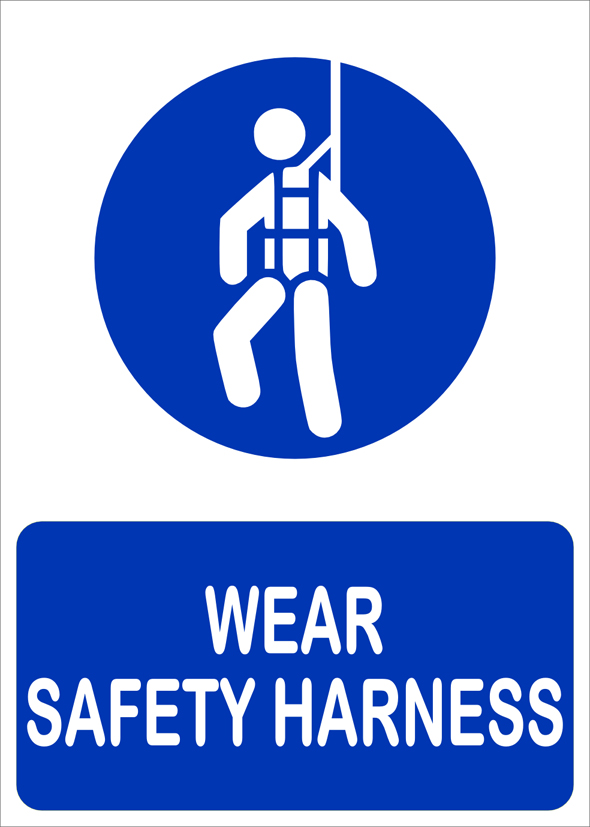 Buy Wear Safety Harness Sign Board Online In India