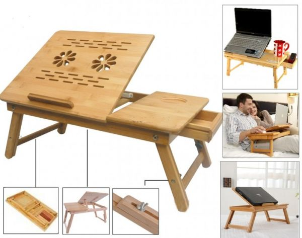Wooden Reading Table ~ Portable multipurpose laptop wooden e table for study