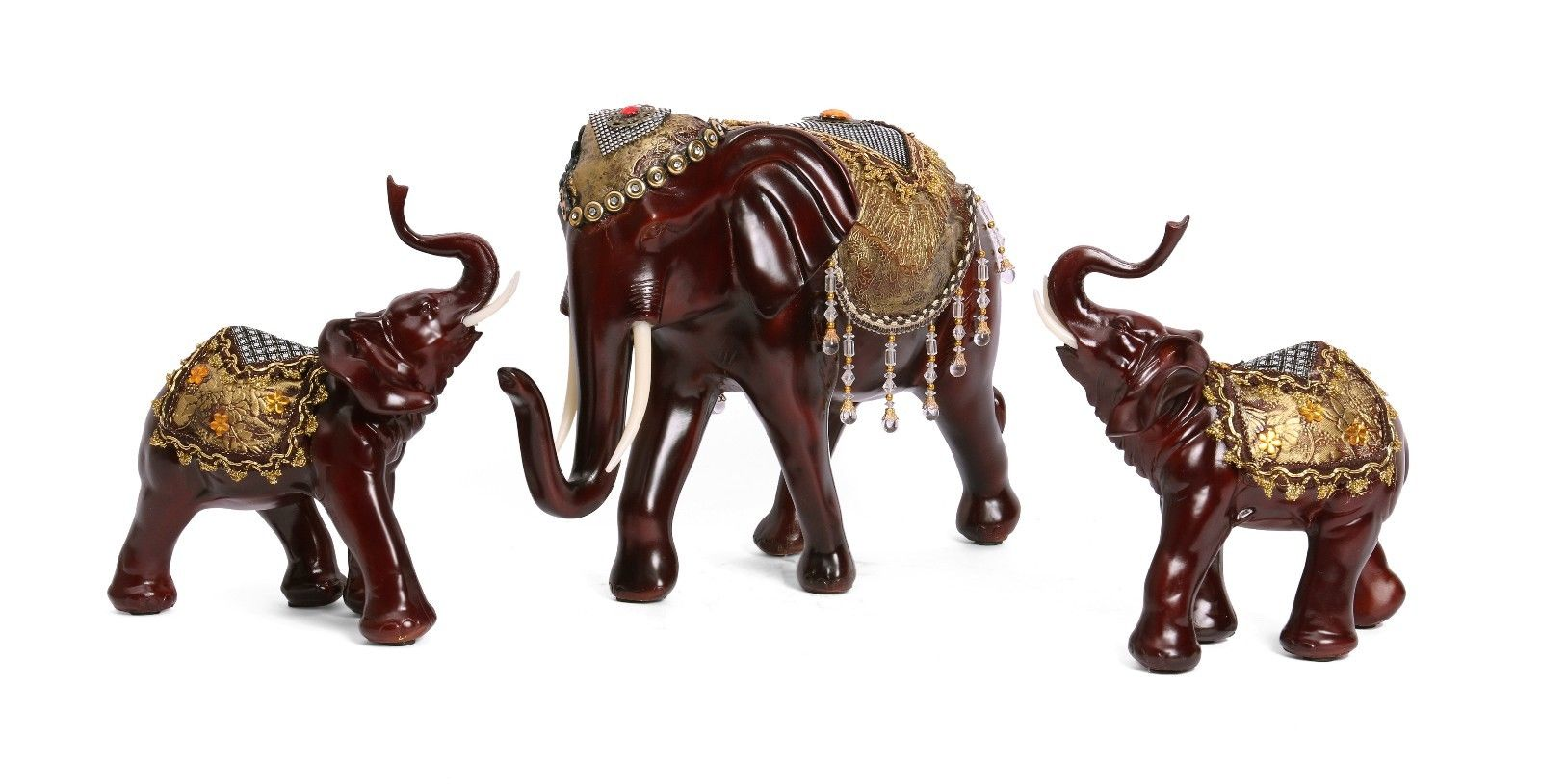 Buy 14 Large Mother Baby Elephant Staute Lucky Animal Figurines Home Decor Gift Online In
