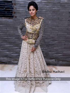 Bindu NET Bollywood Lehenga Saree
