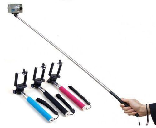 extendable self portraits selfie stick handheld monopod with shutter button i. Black Bedroom Furniture Sets. Home Design Ideas