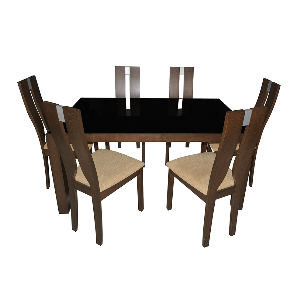 Buy eros glass dining table 6 seater online in india for 6 seater dining table